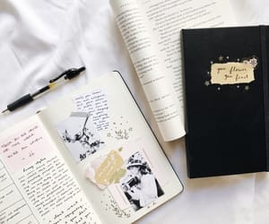 journal, notebook, and study image