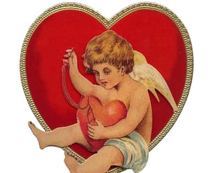 cherub, love heart, and moodboard image
