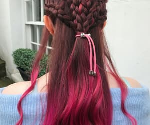 braids, dye, and red image