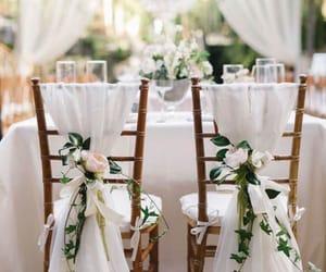 wedding, decoration, and white image
