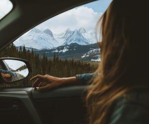 car, girl, and holiday image