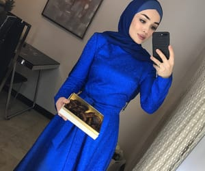 beauty, hijab, and party look image