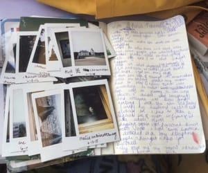 polaroid, journal, and memories image