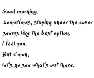 good morning, quote, and text image