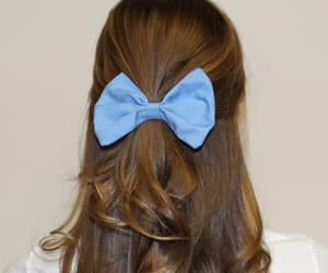 aesthetic, blue, and bow image