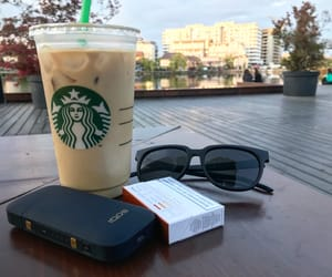 coffee, park, and starbucks image