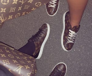 Louis Vuitton, bag, and sneakers image