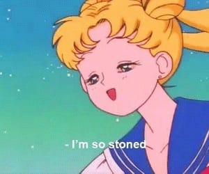 sailor moon, anime, and stoned image