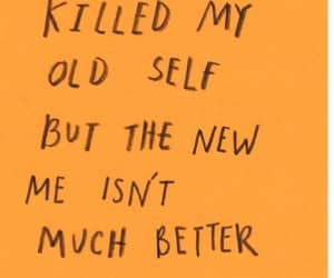 quotes, orange, and sad image