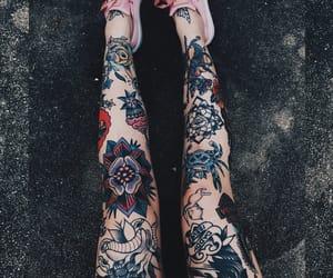tattoo, art, and legs image