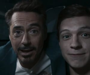 ironman, peter, and spidey image
