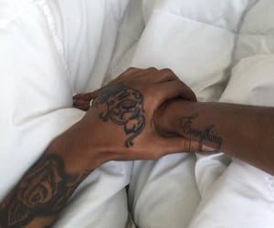 tattoo, couple, and hands image
