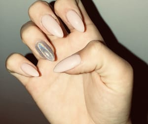 metallic, nails, and pink image