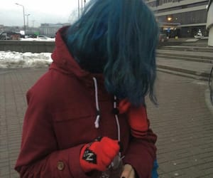 blue, cold, and girl image