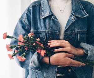 flowers, fashion, and jeans image