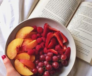 fruit, food, and book image