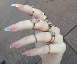 nails, rings, and pale image