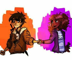 hazel, percy jackson, and nico image