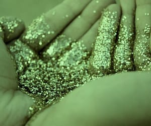 glitter, green, and myself image