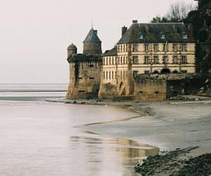 beach, castle, and travel image