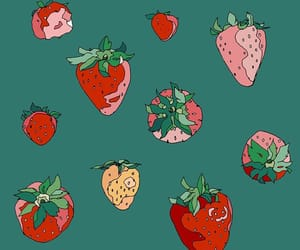 strawberry and illustration image
