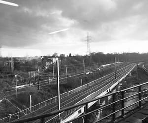 aesthetic, grey, and train image