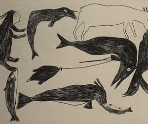 eskimo, illustration, and inuit image