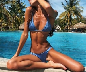 girl, abs, and beauty image