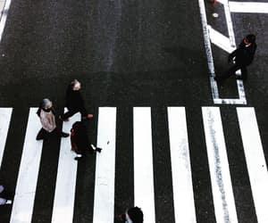b&w, black&white, and crosswalk image