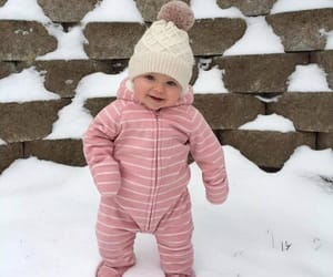 baby, snow, and girl image