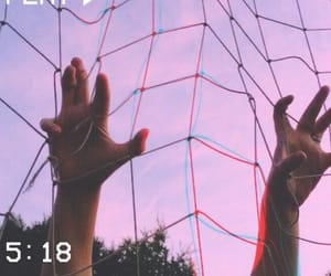 aesthetic, hands, and purple image