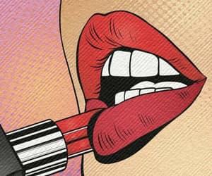 lipstick, art, and lips image