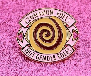 cinnamon rolls, gender, and glitter image