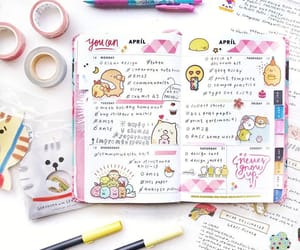 art supplies, college, and planner image