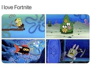 spongebob and fortnite image