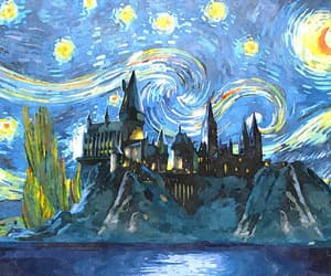 harrypotter, sky, and starrynight image
