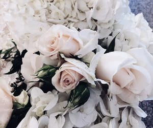 flowers, happiness, and wedding image