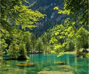 paisaje, verde, and lago image