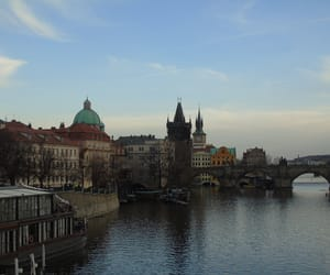 architecture, river, and city image