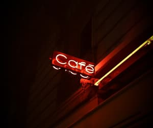cafe, lights, and neon image