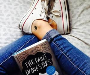book, the fault in our stars, and converse image