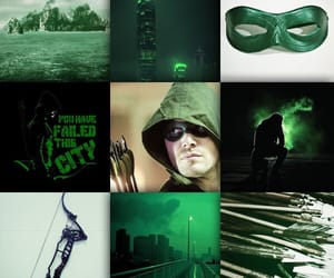 aesthetic, arrow, and green image
