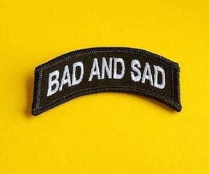 yellow, sad, and bad image