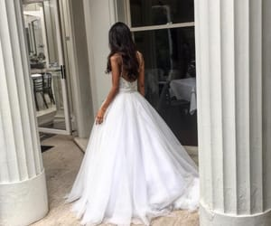 dress, love, and wedding image