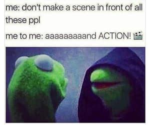 kermit, meme, and Action image