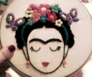 bohemian, embroider, and Frida image