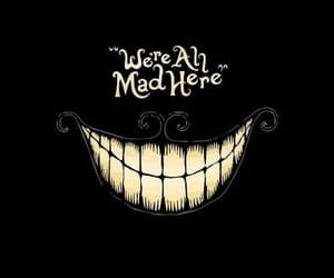 mad, alice in wonderland, and smile image