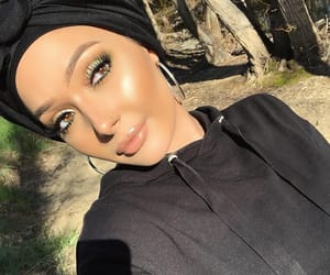 beauty, glow, and hijab image