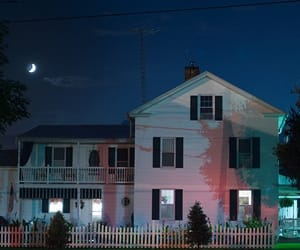 house, night, and moon image