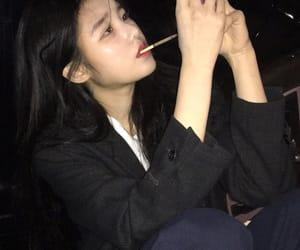 asian, cigarrette, and dark image